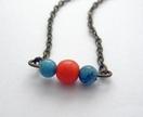 Bead trio necklace