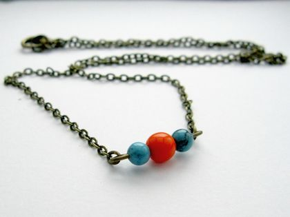 Bead trio necklace