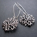 silver coral circle earrings