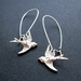 little silver bird earrings