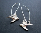 20% off with voucher code SALE - little silver bird earrings
