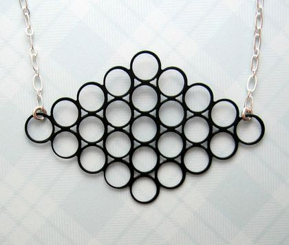 black circle formation necklace