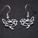 Geo bird outline earrings