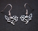 Geo bird outline earrings
