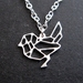 Geo bird outline necklace