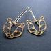 sale - Geo leopard head outline earrings