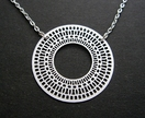 20% off any purchase with voucher code SALE - Patterned circle necklace