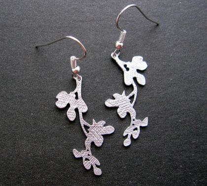 flowering branch earrings