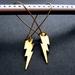 brass lightening bolt earrings