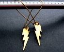 brass lightening bolt earrings