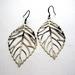 Large filigree leaf earrings