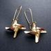 Gold pinwheel earrings