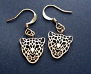 20% off with voucher code SALE - gold leopard earrings
