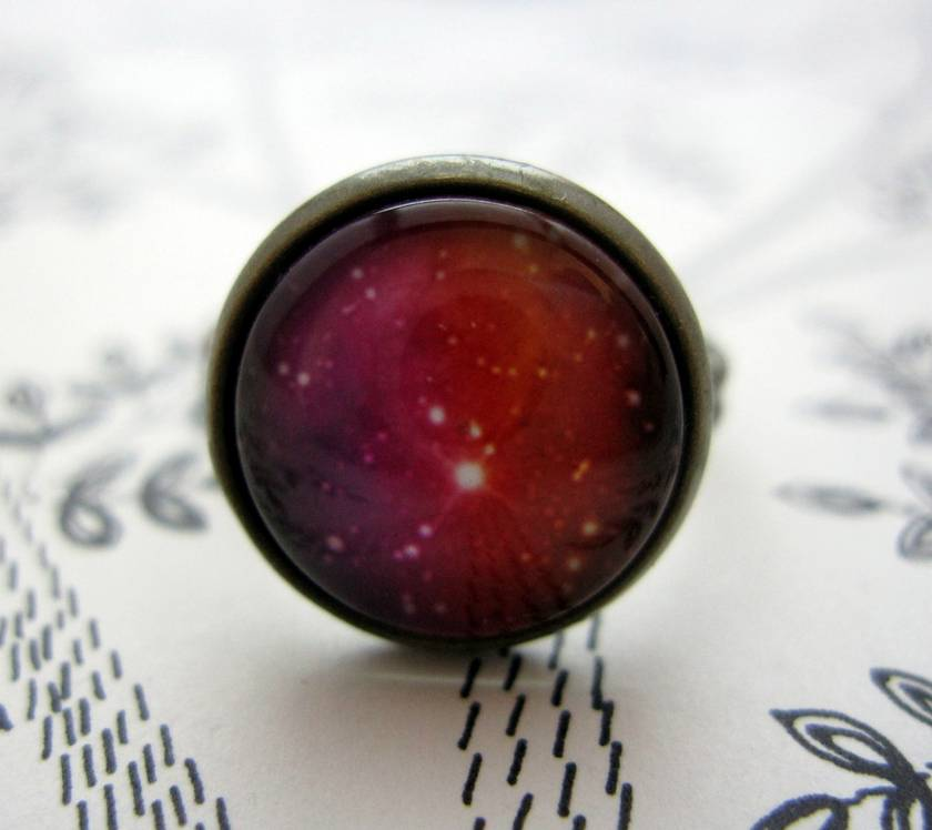 sale - Pink galaxy ring