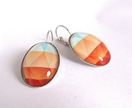 sale - colourful geometric design earrings
