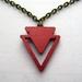 sale - metallic copper triangle necklace