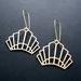 Art deco crown brass earrings