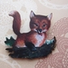 sale - Playful fox brooch