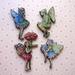 Flower fairies - woodcut magnet set