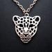 sale - antique silver leopard necklace