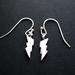 teeny tiny lightening bolt earrings