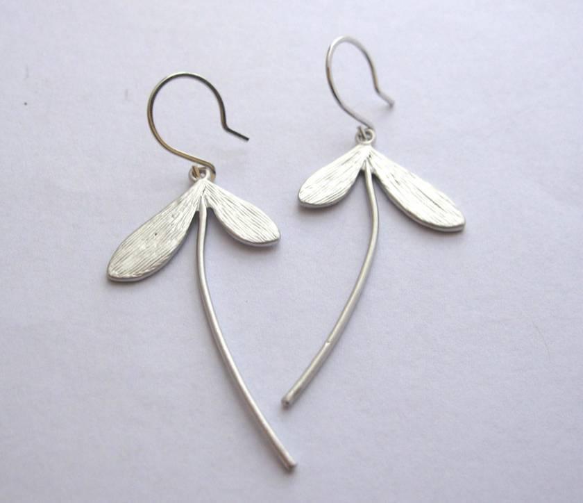 maple fruit earrings