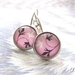 sale - pretty pink patterned earrings