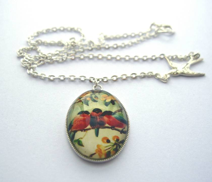 companions - glass dome necklace