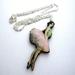 Pretty ballerina necklace
