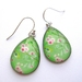 Blossoms and birds teardrop earrings