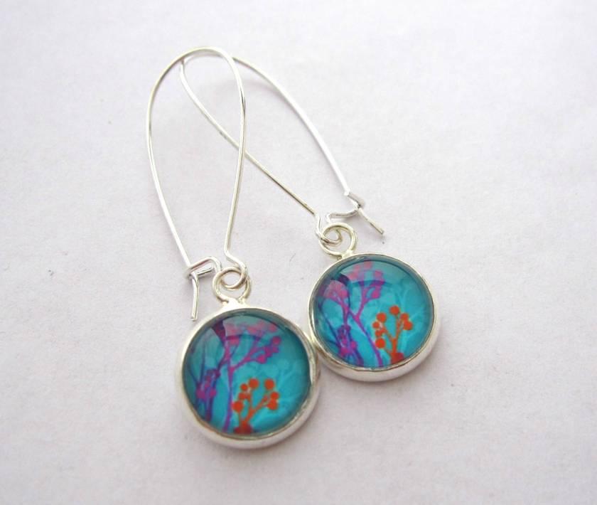 Bright seedpod silhouette earrings