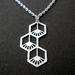 Geo flower drop necklace