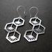 Geo flower drop earrings