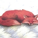 sale - Sleeping fox brooch