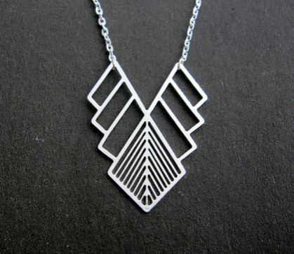 Cut out geo necklace