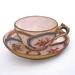 Vintage teacup brooch - gold trim