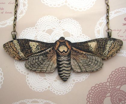 large moth necklace