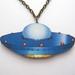 Invasion - retro spaceship necklace