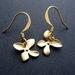 little gold flower earrings