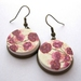 watercolour floral earrings