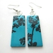 Turquoise blossom silhouette earrings