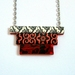 Pattern stack necklace