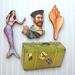 A life at sea - woodcut magnet set