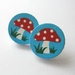 Fairy mushroom stud earrings