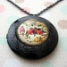 Pretty locket necklace with glass dome insert