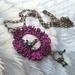 Shabby chic Nancy Drew glass dome necklace