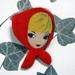 Red riding hood brooch