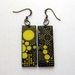 Golden yellow retro dot earrings