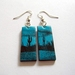 Turquoise blue desert horizon earrings