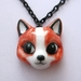 Ceramic fox necklace